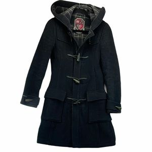 Aritzia TNA Wool Pea Coat with Hood